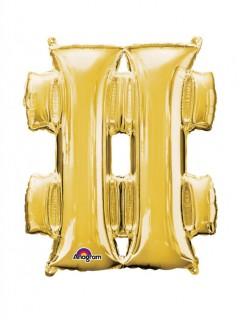Party Dekoration Deluxe Aluminium Ballon Symbol # 68 x 83 cm