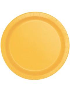 Pappteller Party-Tischdeko 8 Stück 17cm