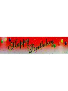 Geburtstags Dekoration Happy Birthday Party Banner bunt