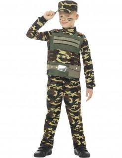 Soldat-Kinderkostüm Militär grün-braun