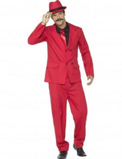 Gangster-Kostüm Herren rot