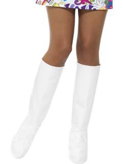 Weiße Stiefelstulpen für Damen