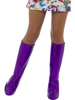 Lila Stiefelstulpen für Damen