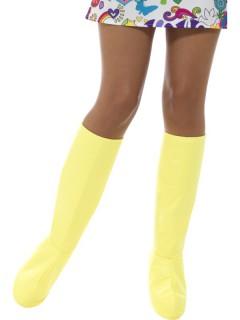 Gelbe Stiefelstulpen für Damen