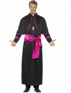 Kardinalskostüm Religiöses Kostüm schwarz-pink
