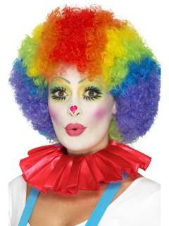 Clown-Kragen Kostümaccessoire rot