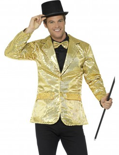 Luxus Disco Pailletten-Jacke gold