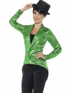 Glitzerndes Paillettenjackett für Damen Discojacke grün