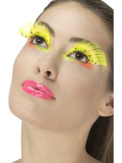 Lange Wimpern mit Punkten Feen-Wimpern gelb-schwarz
