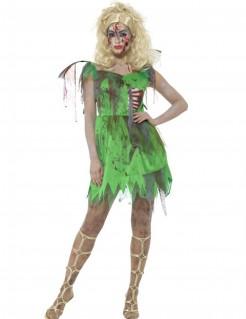 Zombie-Fee Damenkostüm grün