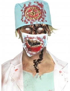 Zombie chirurgen-Set Halloween 2-teilig bunt