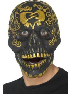 Tag der Toten Maske schwarz-golden