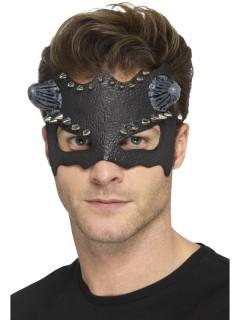 Augenmaske mit Hörnern schwarz