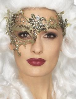Metallische Damenaugenmaske