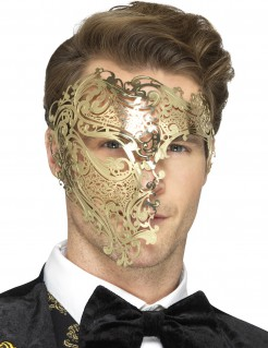Metallische Halbmaske golden