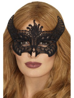 Teufelin Augenmaske schwarz
