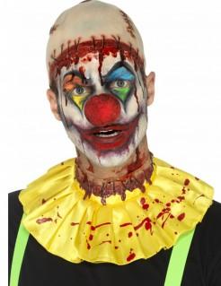 Gruseliger Clown Halloween Accessoire-Set 2-teilig beige-gelb