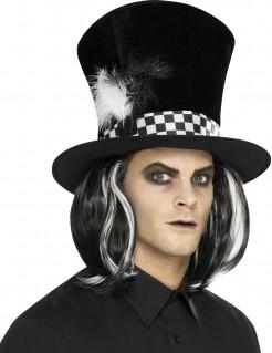 Märchen-Zylinder mit Hutband schwarz-weiss