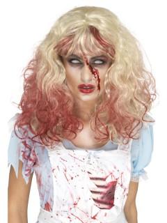 Zombie-Perücke für Damen rot-blond