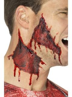 Blutige Wunden Halloween-Tattoos 2 Stück rot