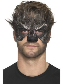 Werwolf-Prothese aus Latexschaum Halloween-Makeup grau
