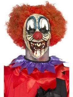 Horrorclown-Gesicht Latexprothese Horrorclown-Maske bunt