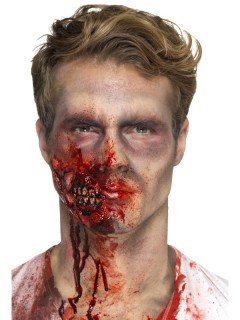 Zombiekiefer-Applikation Make-up Halloween rot