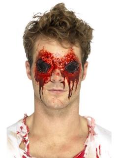 Kunstwunde Augenhöhlen Latex Halloween-Makeup schwarz-rot