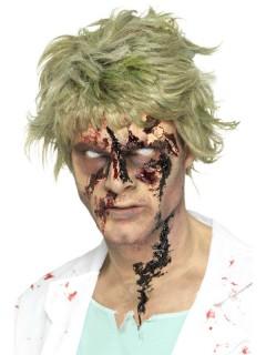 Blutige Zombiewunden Wundschorf schwarz