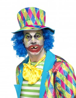 Gebiss Horror-Clown Halloween-Accessoire weiss