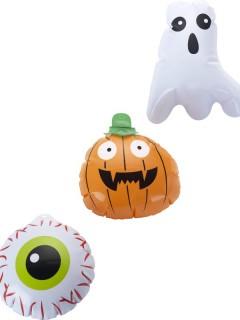 Süsse Grusel-Ballons Halloween Partydeko 3 Stück bunt 15cm