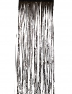 Vorhang schwarz schimmernd