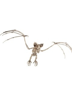 Skelettierte Fledermaus Halloweendeko-Tier beige 66x29cm