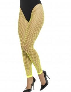 Netzstrumpfhose Damenstrümpfe Leggings fluoreszierend gelb