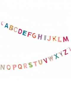 Mini-Girlande Buchstaben aus Lokta Raumdeko bunt 1m