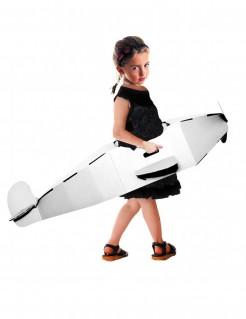 Flugzeug-Kinderkostüm zum Selbstgestalten weiss 120cm