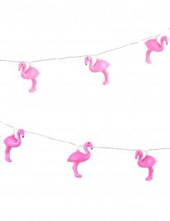 Flamingo-Girlande mit LEDs Partydeko pink 210cm