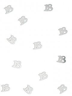 Tischkonfetti silber 18 Jahre 14g