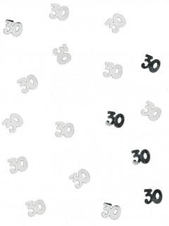 Geburtstags Tischdekoration Konfetti Zahl 30 silber 10g