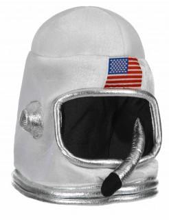 Astronauten-Helm Raumfahrer-Hut für Kinder weiss-silber