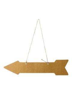 Richtungspfeile für die Hochzeit 5 Stück braun 42x10cm