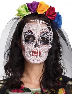 Dia de los Muertos Maske und Stirnband für Frauen bunt
