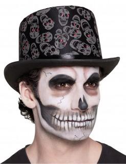 Dia de los Muertos Hut mit Schädel für Erwachsene