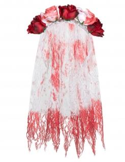 Dia de los Muertos Halloween-Brautschleier