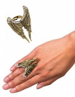 Ring mit Engelsflügeln für Erwachsene gold