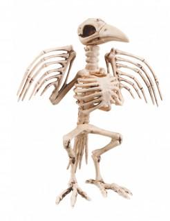 Skelett-Rabe Halloween-Deko 32 cm