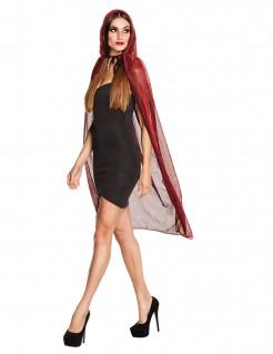 Halloween-Umhang mit Kapuze für Damen 140 cm