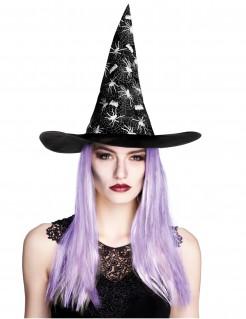 Halloween-Hexenhut mit Spinne für Damen