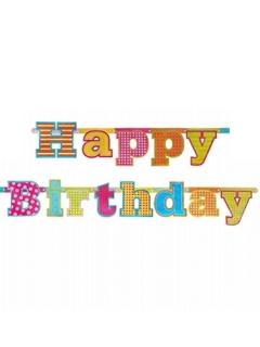 Happy Birthday Party-Girlande bunt