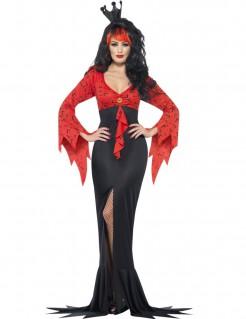 Böse Märchenkönigin Halloween-Damenkostüm schwarz-rot